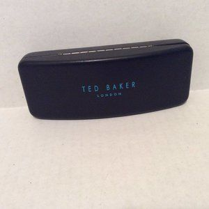 Ted Baker Eyeglass Case Black Hinge Hard Shell